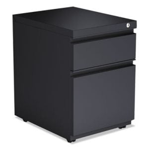 Alera Two-Drawer Metal Pedestal File With Full Length Pull, Charcoal (ALEPBBFCH)