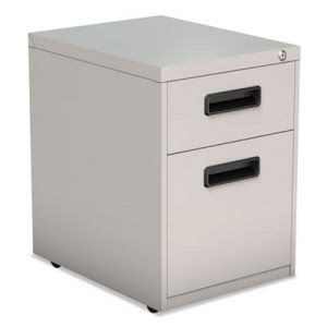 Alera 2-Drawer Metal Pedestal File, 14-7/8w x 21-5/8h, Light Gray (ALEPABFLG)