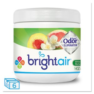 Bright Air Super Odor Eliminator, Peach & Citrus, 6 Jars (BRI900133CT)