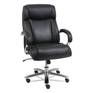 Alera Alera Maxxis Series Big and Tall Leather Chair, Black/Chrome (ALEMS4419)