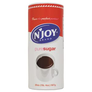 N'joy Pure Sugar Cane, 20 oz Canister, 3 Canisters (NJO94205)