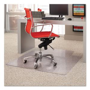 ES Robbins Dimensions Chair Mat for Carpet, 45 x 53 with Lip, Clear (ESR162011)