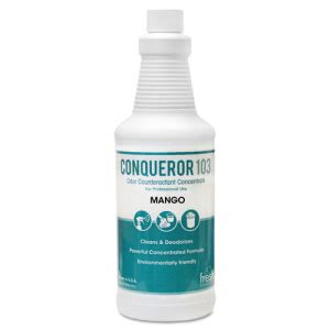 Conqueror 103 Odor Counteractant Concentrate, Mango, 12 Bottles (FRS1232WBMG)