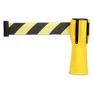 "Safety Cone Topper Belt, 3 1/2"" x 9 ft, Yellow/Black, Plastic/Nylon (TCO25950)"