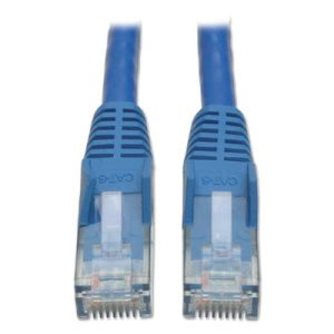 Tripp Lite CAT6 Snagless Molded Patch Cable, 5 ft, Blue (TRPN201005BL)