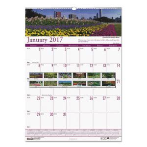 House of Doolittle Gardens of the World Monthly Wall Calendar, 15-1/2 x 22, 2018 (HOD303)