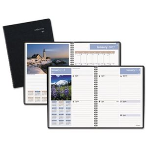 Recycled Scenic Weekly/Monthly Planner, Blue, 2017 (AAGG70017)