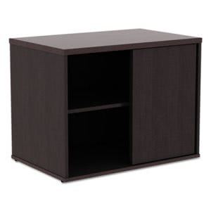 Alera Open Office Low Storage Cabinet Credenza, Espresso (ALELS593020ES)