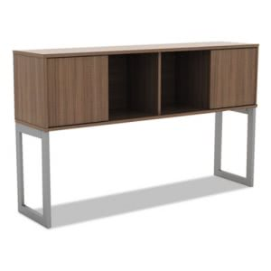 Alera Open Office Desk Series Hutch, Modern Walnut (ALELSHH60WA)