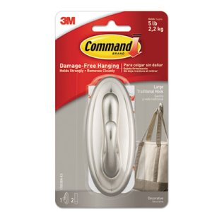 Command Decorative Hooks Pack, Traditional, Large (MMM17053BNES)