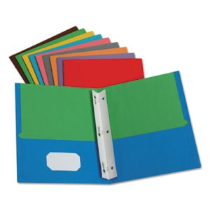 Oxford Twisted Twin Pocket Folder with Fasteners, Assorted (OXF55776)