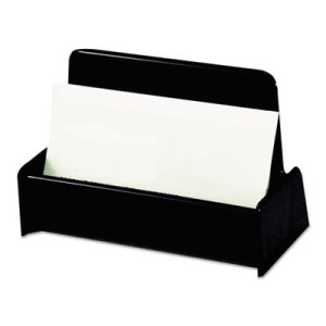 Universal Business Card Holder, Capacity 50 2 1/4 x 4 Cards, Black (UNV08109)