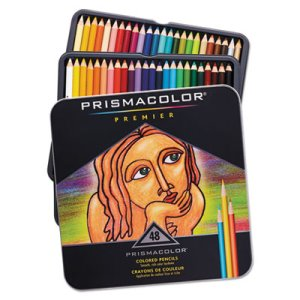 Prismacolor Premier Colored Woodcase Pencils, 48 Assorted Colors (SAN3598THT)