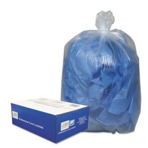 10 Gallon Clear Garbage Bags, 24x23, 0.6mil, 500 Bags (WBI242315C)