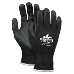 Memphis Cut Pro 92720NF Gloves, Medium, Black, HPPE/Nitrile Foam (CRW92720NFM)