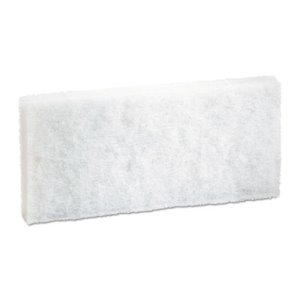 Boardwalk Light Duty Scrub/Scouring Pads, White, 20 Pads (BWK401)