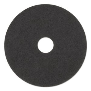 "3M Black 17"" Floor Stripper Pad 7200, Nylon/Polyester, 5 Pads (MCO 08379)"