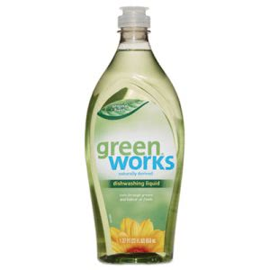 Green Works Dishwashing Liquid, Original Fresh, 22-oz Bottle (CLO31207EA)