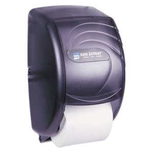 San Jamar Duett Toilet Tissue Dispenser, Black Pearl, Each (SJMR3590TBK)