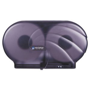 San Jamar Oceans Twin JBT Toilet Paper Dispenser, Black (SJMR4090TBK)