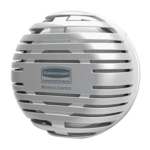"Rubbermaid TCell Dispenser, 4.09"" Diameter x 2.36"", Chrome (RCP1957533)"