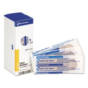 "First Aid Only Flexible Fabric Bandages, 1"" x 3"", 25/Box (FAOFAE3001)"