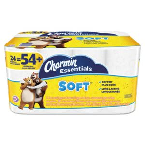 Charmin Essentials Soft Bathroom Tissue, 2-Ply, 24 Rolls (PGC96610)