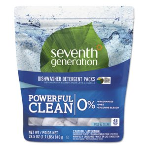 Seventh Generation Natural Dishwasher Detergent Pacs, 45 Pacs (SEV22897)