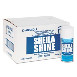 Sheila Shine Stainless Steel Cleaner & Polish, 10oz Aerosol, 12/Carton (SSI1CT)