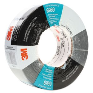 "3m Extra-Heavy-Duty Duct Tape, 48mm x 54.8m, 3"" Core, Silver (MMM6969)"