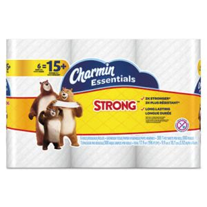 Charmin Essentials Strong Bathroom Tissue, 1-Ply, 6 Rolls (PGC96892PK)