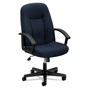 Basyx Series Managerial Mid-Back Swivel/Tilt Chair, Navy/Black (BSXVL601VA90)