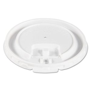 Solo Liftback & Lock Tab Cup Lids for 10 oz. Foam Cups, 2,000 Count (SCCDLX10R)