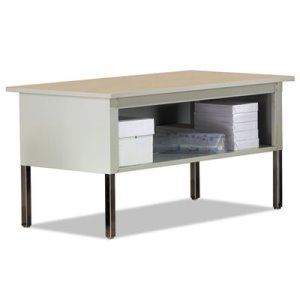 Mayline Kwik-File Mailflow-To-Go Mailroom System Table, 60w x 30d x 36h,Birch/PblGray (MLNTB60PG)
