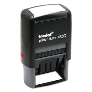 Trodat 5-in-1 Stamp, Dater, Self-Inking, 1 5/8 x 1, Blue/Red (USSE4754)