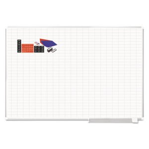 "MasterVision Grid Platinum Plus w/Accessories, 1x2"" Grid, 72x48, Aluminum (BVCCR1230830A)"