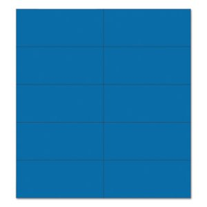 Mastervision Dry Erase Magnetic Tape Strips, Blue, 25 Tape Strips (BVCFM2401)