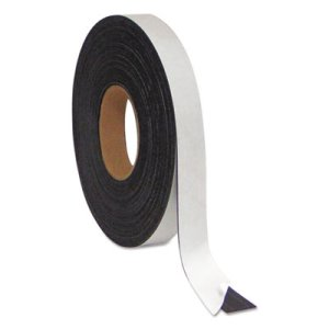 "Mastervision Magnetic Adhesive Tape Roll, 1/2"" x 50 Ft., Black (BVCFM2321)"