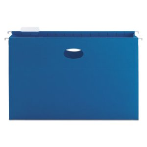 "Smead 3"" Capacity Flexible Hanging File Pockets, Blue, 25 per Box (SMD64370)"