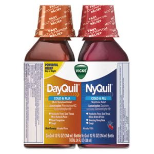 DayQuil/NyQuil Cold & Flu Combo Pack, 12-oz Day, 12-oz Night, 6 Packs (PGC01479)