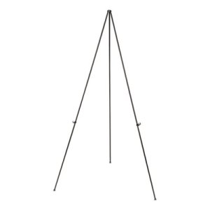 "Universal Instant Setup Foldaway Easel, Adjusts 15"" to 61"", Black (UNV43029)"