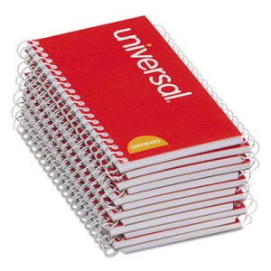 Universal Wirebound Memo Book, Narrow Rule, 5 x 3, White, 12 Pads (UNV20453)