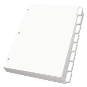 Oxford Custom Dividers, 8 Self-Stick Tab Labels, White, 25 Sets (OXF11316)