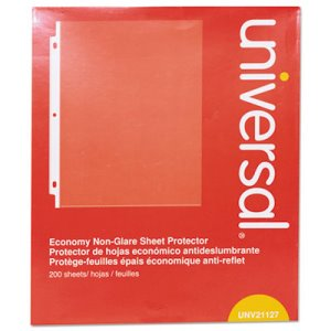 Universal Top-Load Poly Sheet Protectors, Economy, Letter, 200/Box (UNV21127)