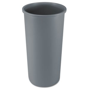 Rubbermaid 354600 Untouchable 22 Gallon Round Trash Can, Gray (RCP354600GY)