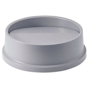 Rubbermaid 267200 Untouchable Round Swing Top Trash Can Lid, Gray (RCP267200GY)
