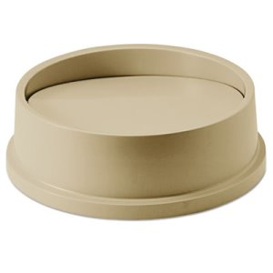Rubbermaid 2672 Untouchable Round Swing Top Trash Can Lid, Beige (RCP267200BG)