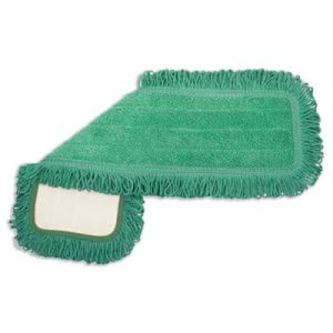 Boardwalk Microfiber Dust Mop Head, 18 x 5, Green, 1 Dozen (BWKMFD185GF)
