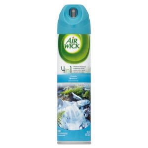 Air Wick 4-in-1 Air Freshener Spray, Fresh Waters, 12 Aerosol Cans (RAC77002)