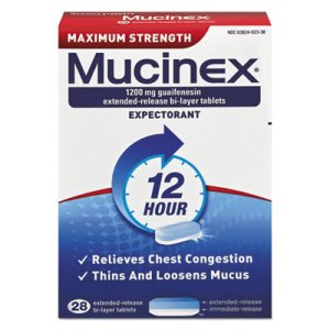Mucinex Maximum Strength Expectorant, 28 Tablets/Box (RAC02328)